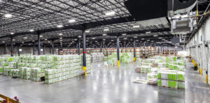 large open area of warehouse